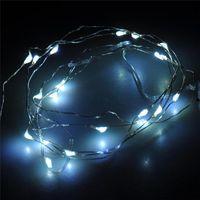 تعمل 2M 20 المصابيح سلسلة أدى CR2032 بطارية أشرطة مايكرو البسيطة الإضاءة النحاس أسلاك الفضة مليء بالنجوم LED لعيد الميلاد هالوين 100 بنسبة