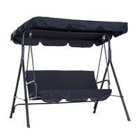 Chaise d'ombrage en plein air Chaise de poussière de poussière Rattan Patio Couverture de siège de jardin imperméable