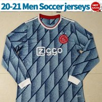 Long Sleeve ajax soccer jerseys away #6 VAN DE BEEK 20 21 Me...