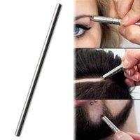 Profesjonalne magiczne grawerowane brody nożyczki do włosów brew rzeźbić pióro tatuaż fryzjer fryzjerski nożyczki do brwi ropę