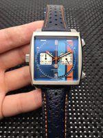 2020 Venda Quente 42mm relógio dos homens VK64 movimento revestido de vidro de vidro fivela de alta qualidade relógio de luxo