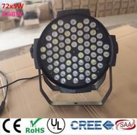 LED par 72x5W RGBW dmx dj ktv LED Par Can Par64 led spotlight dj projector wash lighting stage light Super bright light