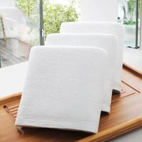 لوازم الجملة فندق مناشف حمام دار الضيافة فوط قطن 100٪ لينة الأبيض حمام للجنسين الاستخدام الآمن حمام الطبيعية منشفة DBC DH0710