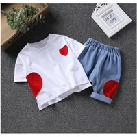 2pcs Boys girls casual clothing set kids summer black white ...
