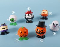 NEW 7 Styles Jumping Halloween Wind- up Toy Funny PVC Pumpkin...
