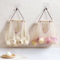 Drawstring Mesh Bags Multifunctional Reusable Hanging Storag...