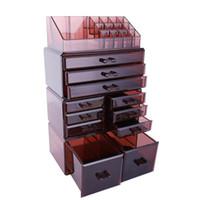 Cosmetico di trucco e gioielli Storage Case Visualizza design spazioso Grande per bagno, Cassettiera, Vanità e controsoffitto dell'organizzatore di caso Scatole