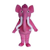 2019 fabriksförsäljning varm rosa elefant karaktär maskot kostym outfits vuxen storlek tecknad djur maskot kostym för karneval festival commercial