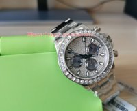 Moda relógios de pulso Cosmograph JH 116576-TBR 116576 40mm diamante inoxidável ETA Movement Cal.4130 Automatic Mechanical Mens Watch Watches