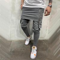 2019 Automne Hommes Harem Pantalon Taille Élastique Bande Poches Casual Lâche entrejambe pantalon Hommes Streetwear Hip-hop Pantalon