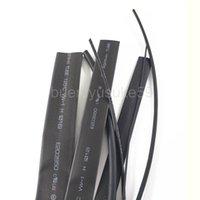 100M Diamètre 12 mm Largeur plat 21mm Noir manchon thermorétractable électrique Sleeving fil de câble Gaine thermorétractable Wrap 2: 1 Rétreint entier