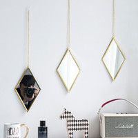 Hoem Decoration Bathroom Mirror Creative Diamond Mirror Bath...