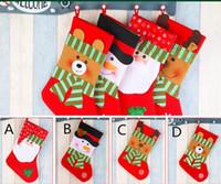 Çocuklar Şömine Ağacı İçin Parti Ağacı Dekoru Santa Çorap Çorap Hediye Şeker Poşetleri Güzel Hediye Çanta Asma 38 * 19 cm Noel Yılbaşı Ağacı