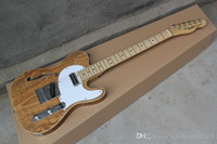 new Semi- hollow models Telecaster single F- hole wood color e...