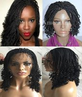 African American Twist Braids Hair Wig Lace Front Wig Heavy ...
