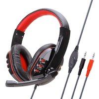 Soyto SY733MV Head-montado Headset Gaming Headset Subwoofer Headphone Ps4 computador controlador de áudio-visual com trigo