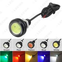 FEELDO Su geçirmez 4W 23mm lens Ultra ince Otomobil için LED Kartal Göz DRL Işık Kuyruk Yedekleme Fren Arka Lambası Işık 5 Renk # 1073