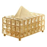 Métal Style Cristal tissu Boîte amovible Porte-serviettes en tissu Cuisine Salon Salle à manger Chambre Décoration