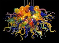 Energy Saving Modern Chandelier Sala Luzes Arte decorativa pequeno Chihuly Estilo Multicolor Art Glass Chandelier