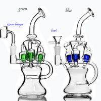 Klein Recycler Dab Rigs Schwere Glaspfeife Wasserpfeifen Rauchrohre Bohrinseln 14mm Glasschüssel Sovereignty Glas Hookahs Wasser Bongs