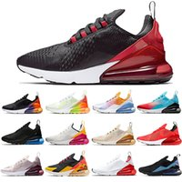Nike Air Max 270 Bred Regency Lila Laufschuhe Männer Frauen Foto Blue Triple Black Weiß Hot Punch-orange Volt Outdoor Sports Trainer Männer Turnschuhe