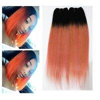 H Красочные прямые волосы Extrensions 3 или 4 Связки Бразильский 100% девственницы человеческих волос переплетений Ombre Two Tone Color 10 -18inch
