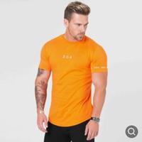 Новая летняя рубашка для мужчин хлопок тренажерный зал фитнес мужчины футболка брендовая одежда спортивная футболка мужской принт с коротким рукавом работает футболка