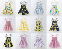 طفلة اللباس عباد الشمس الليمون مطبوعة الوظائف صيف جديد بوتيك فساتين لطيف عارضة زهرة الوظائف الجديدة 2020