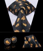 Hi-Tie высококачественные шелковые мужские галстуки мода черные связи для мужчин шелковый галстук золотой пашен Формальная рубашка галстук для свадьбы бизнес N-3008