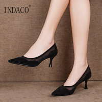 Women Shoes High Heel Pumps Women Shoes Genuine Leather Mesh...