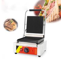 Ticari 110 V 220 V Yapışmaz Elektrikli Biftek Izgara Sandviç Makinesi Restoran Snack Gıda Mağazası Elektrikli Griddler Panini Basın Makinesi