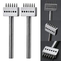 4/5/6 / 8mm Punzones de agujero para manualidades de cuero Espacio 1mm Diámetro Herramientas 2/4/6 Clavija para hacer bolsas