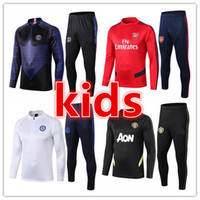 2019 2020 chandal Liverpool Manchester City Manchester United Chelsea arsenal kids chandal de futbol football soccer tracksuit training kit 19 20 niño chándal de fútbol kits