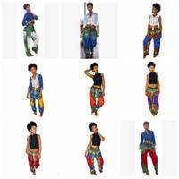 Dashiki Чехи Брюки Digital Printed Сыпучие Длинные брюки African Vintage Ankara брюк Summer Карман Повседневный Plus Широкие брюки ноги TLZYQ662