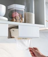 La boîte à mouchoirs en plastique créative multifonctionnelle est simple et à la mode (trois couleurs sont disponibles: blanc, abricot et gris)