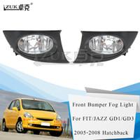 ZUK Brand New высокого качества Левый Правый противотуманной фары Противотуманные фары переднего бампера лампы для HONDA FIT JAZZ GD1 GD3 2005-2008