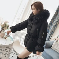 Giacca Nuovo Inverno donne in pelliccia con cappuccio Parka Cappotti corti Pane cappotto femminile spessore caldo della neve di usura del rivestimento