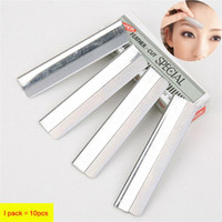 10pcs lot Stainless Steel Eyebrow Trimmer Eyebrow Scissors E...