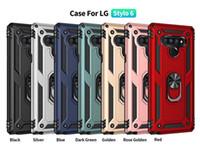 Для LG Stylo 6 K51 Магнитный держатель автомобиля мобильного телефона чехол для Samsung Galaxy A21 A11 A01 A21S С Kickstand крышки D1