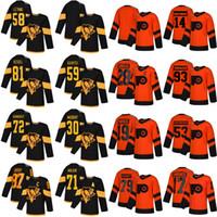 2019 Stadium Series Philadelphia Flyers Hockey Jerseys 53 Shayne Gostisbehere 14 Sean Couturier Pittsburgh Penguins 87 Sidney Crosby Jerseys