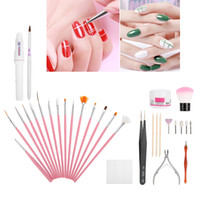 Professionnel Nail Cuticle Cutting Grinder Pusher Fourche Set Gel Brosses Kit En Acier Inoxydable Manucure Pédicure Nail Art Outils Kits