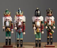크리스마스 크리 에이 티브 장식품 및 Feative 및 Parrty 크리스마스 선물 SN558에 대한 30cm 호두 까기 인형 인형 군인 홈 장식