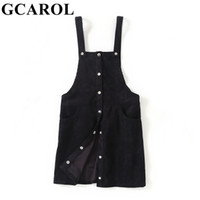 Gcarol 2019 Early Spring Croduroy Strap Dress High Quality T...