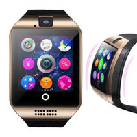 Q18 Smart Watch Bluetooth Watch para el teléfono Android Fitbit Tracker Pulseras inteligentes Q18 fitness tracker Negro Oro Plata Reloj