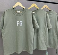 TANRI VE ABD 2020 Tasarımcı Moda SİS Tee Erkek Tasarımcı tişört FEAR FG Ordusu Yeşil Zeytin Yeşil Yansıtıcı 3M Casual Gevşek Avrupa kısa kollu