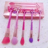 marque maquillage pinceaux ensembles cosmétiques pinceau 5 pcs kits couleurs vives sirène maquillage pinceau outils poudre pinceaux
