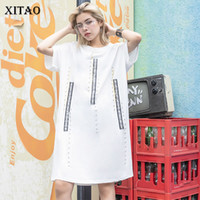 [XITAO] Women 2019 Summer New Fashion O- neck Short Sleeve Lo...