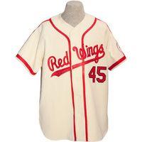 Rochester Kırmızı Kanatlar 1962 Ev Jersey 100% Dikişli Nakış Logoları Vintage Beyzbol Formaları Özel Herhangi bir Ad Herhangi Bir Numara Ücretsiz Kargo