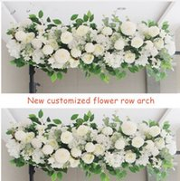 Exclusivo de seda Artificial Peonies Rose Flower Row Arrangement Supplies for Wedding Arch Centros de mesa de centro de bricolaje suministros