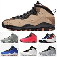 2019 Mann-Basketball-Schuhe Jumpman 10 10s Wüste Camo Cement Tinker I m zurück Chicago Cool Gray Powder Blue Steel Grey Trainer Sport-Turnschuhe